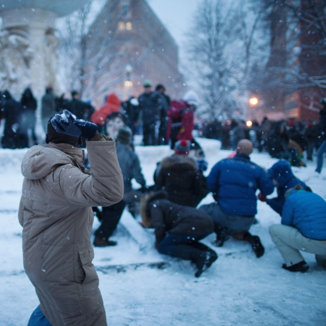 dupont circle snowball fight dc